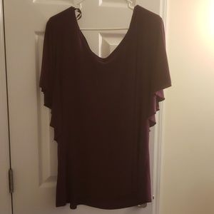 Plum batwing sleeve top